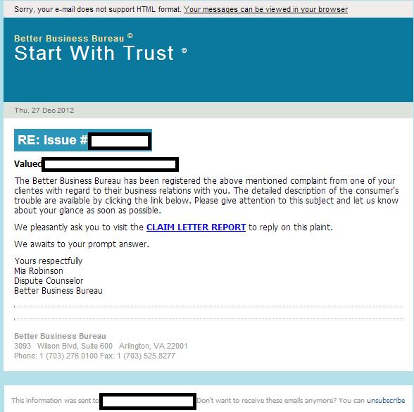 Email_Spam_BBB_Better_Business_Bureau_Exploits_Malware_Black_Hole_Exploit_Kit