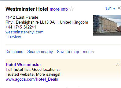 Westminster_Hotel_Rhyl_Malware_Malicious_Software_Google_Maps