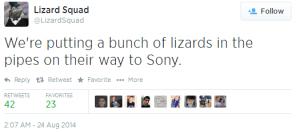 LizardSquad Tweet 1
