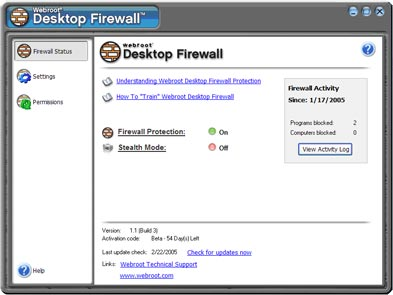Webroot Desktop Firewall 1.3 full