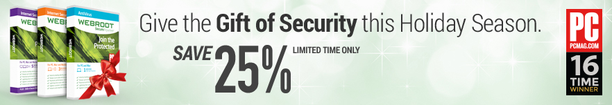25% Off for a limited time only - Real-time protection against new threats - Shop our Holiday deals and save