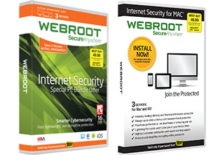 Webroot SecureAnywhere Internet Security Plus and Mac box shot