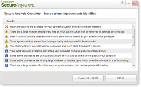 Webroot System Analyzer