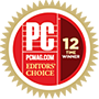 PCMAG.COM Editors' Choice 12 Time Winner