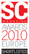 SC Magazine 2010 Europe shortlisted award