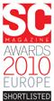 SC Magazine 2010 Europe shortlisted award