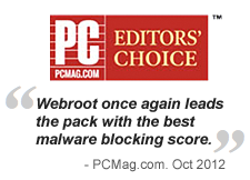 PC Mag Editors' Choice award 2012