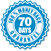 70-day money back guarantee