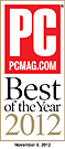 PC Mag Best of 2012 Gold Award
