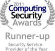 2011 Computing Security Awards Runner-up award